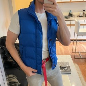 """Abercrombie bright blue down puffer """"kempshall jacket"""" vest size XS"""
